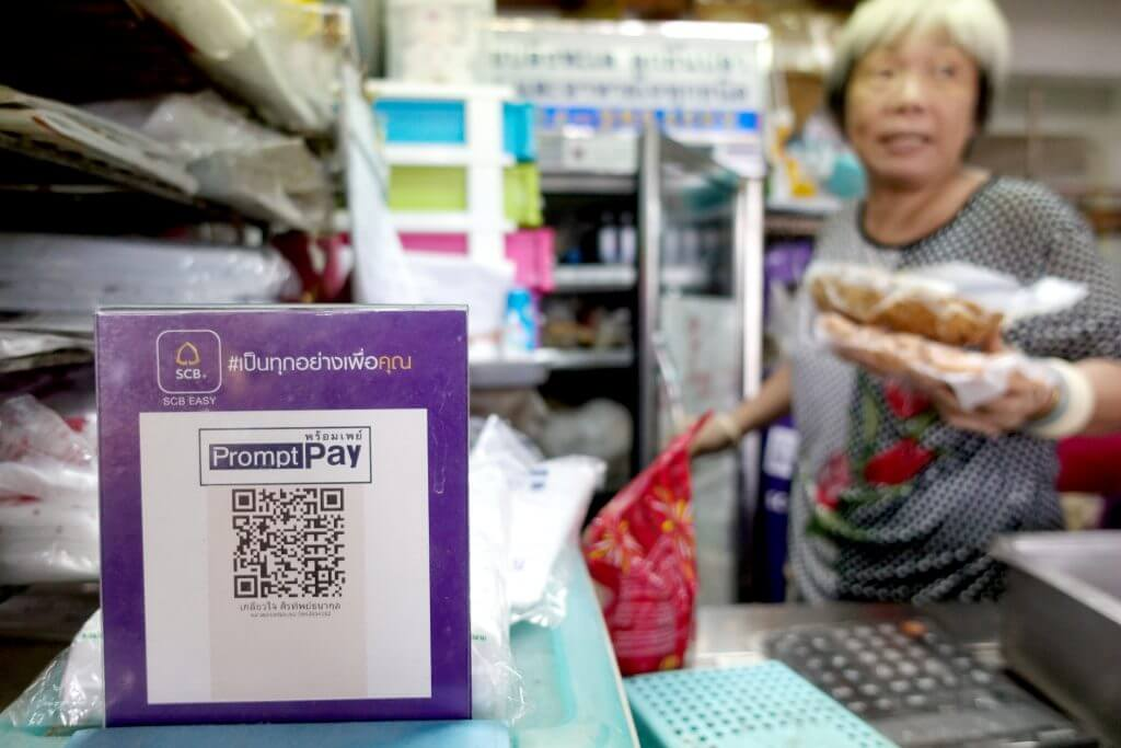 Street-food vendor QR code Thailand. Source: Reuters